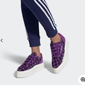 Adidas Hyper Sleek Purple Platform Sneakers